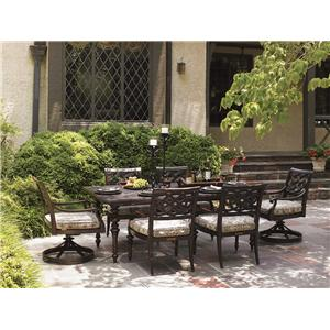 Tommy Bahama Outdoor Living Black Sands Outdoor Dining Set