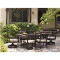 Tommy Bahama Outdoor Living Black Sands Outdoor Dining Set - Item Number: 335-87+2x-13R+CS335-1R+4x-13+35-13