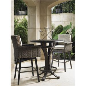 Tommy Bahama Outdoor Living Blue Olive High Bistro Table Set