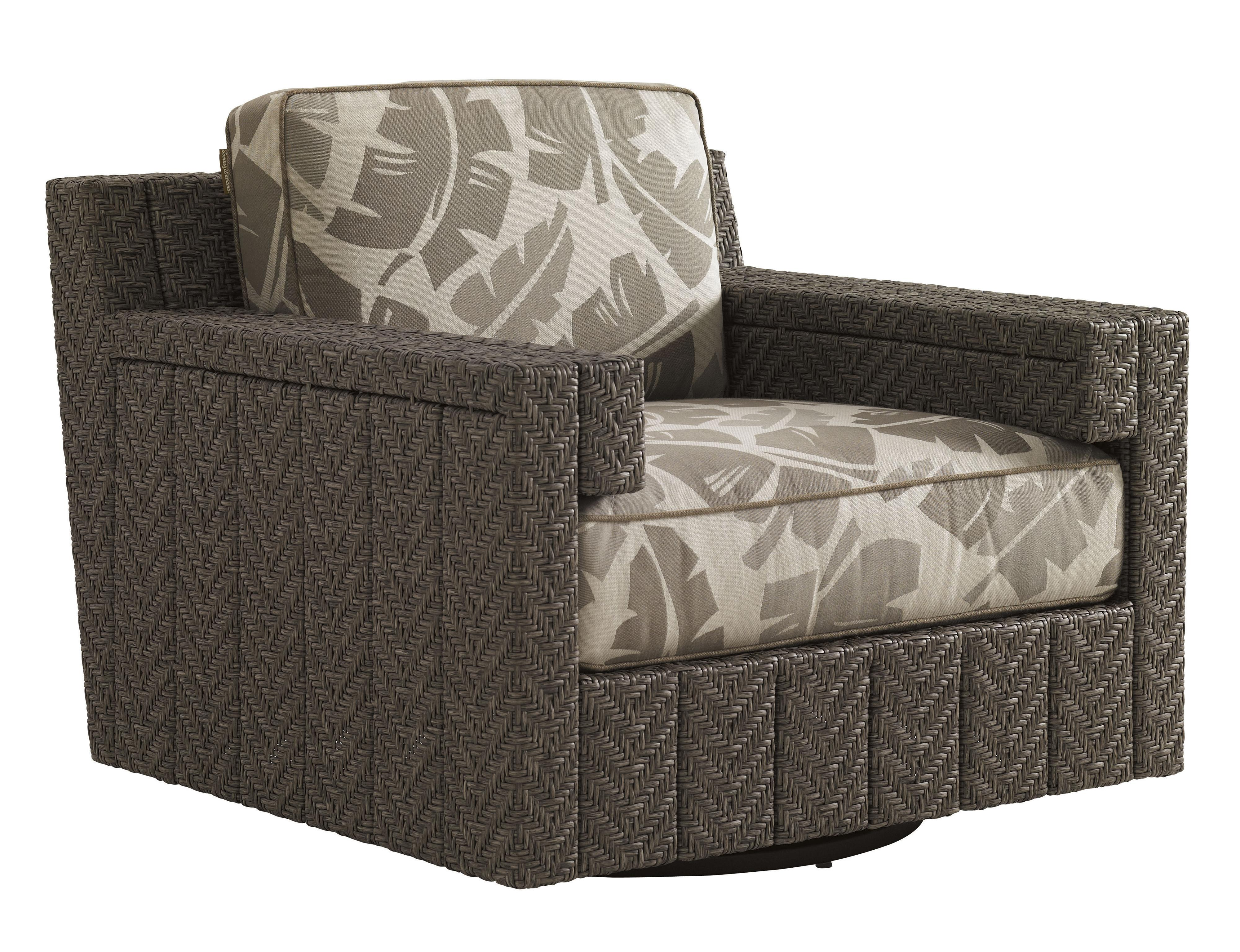 Tommy Bahama Outdoor Living Blue Olive Swivel Glider Chair - Item Number: 3230-11SG+CS3230-11SG