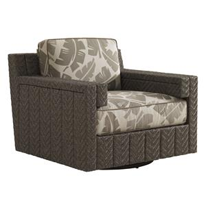 Tommy Bahama Outdoor Living Blue Olive Swivel Glider Chair
