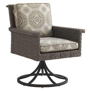 Tommy Bahama Outdoor Living Blue Olive Swivel Rocker Dining Chair