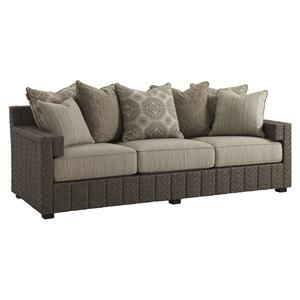 Tommy Bahama Outdoor Living Blue Olive Scatterback Sofa