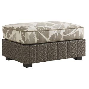 Tommy Bahama Outdoor Living Blue Olive Ottoman