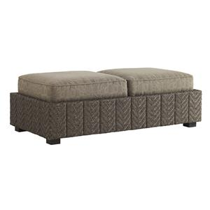 Tommy Bahama Outdoor Living Blue Olive Storage Ottoman