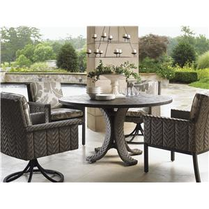 "Tommy Bahama Outdoor Living Blue Olive 54"" Round Dining Table & Chair Set"