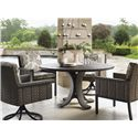 "Tommy Bahama Outdoor Living Blue Olive 54"" Round Dining Table & Chair Set - Item Number: 3230-870TB+WT+2x11+13SR+2XCS11+13SR"