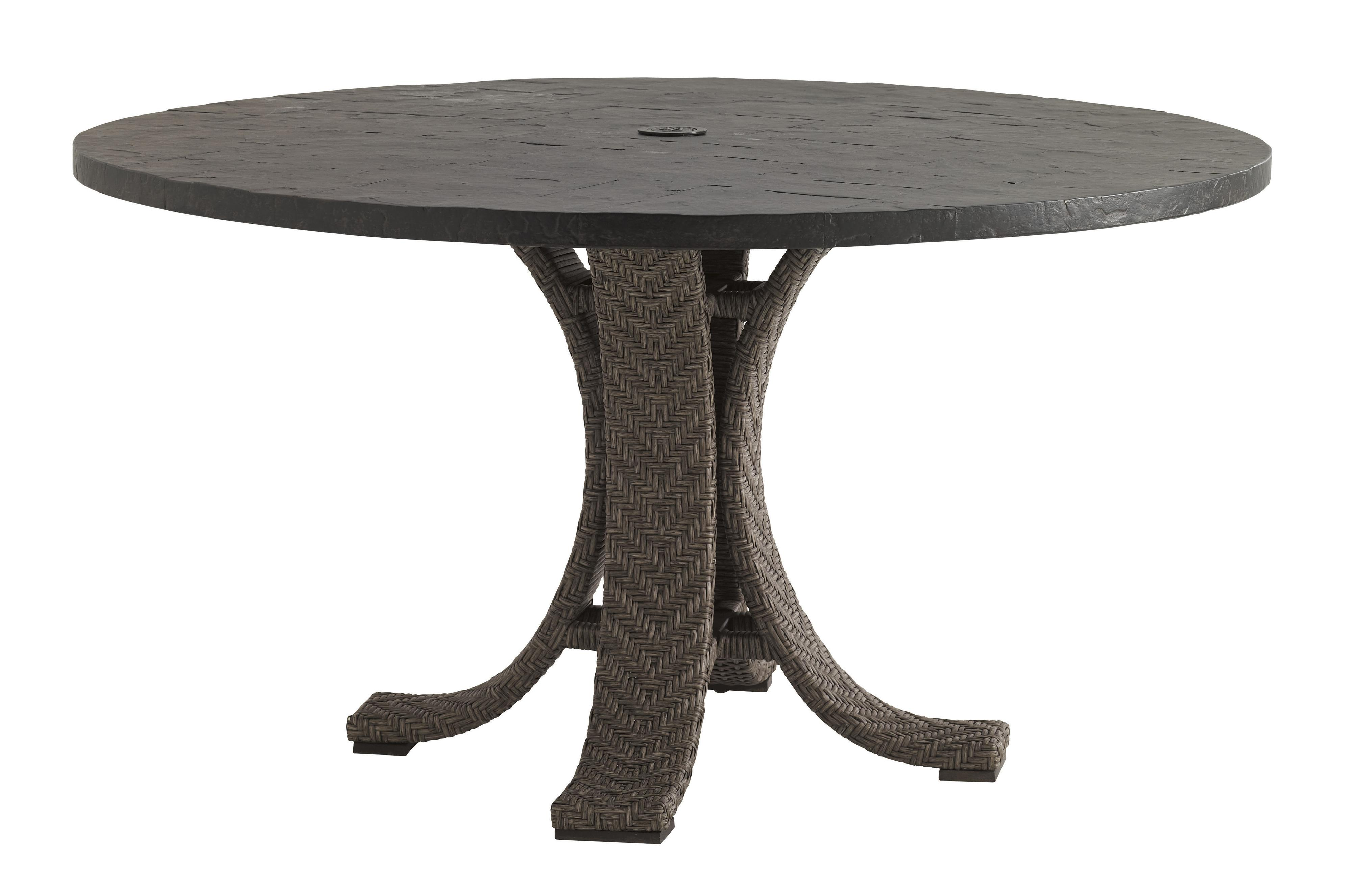 """Tommy Bahama Outdoor Living Blue Olive 54"""" Round Dining Table - Item Number: 3230-870WT+3230-870TB"""