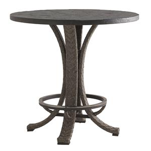 "Tommy Bahama Outdoor Living Blue Olive 38"" Round High/Low Bistro Table"