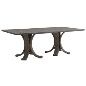 Tommy Bahama Outdoor Living Blue Olive Dining Table