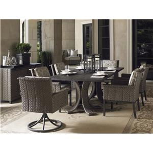 Tommy Bahama Outdoor Living Blue Olive Rectangular Dining Table Set