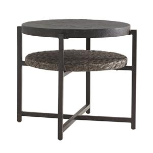 Tommy Bahama Outdoor Living Blue Olive Round End Table