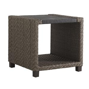 Tommy Bahama Outdoor Living Blue Olive Square End Table