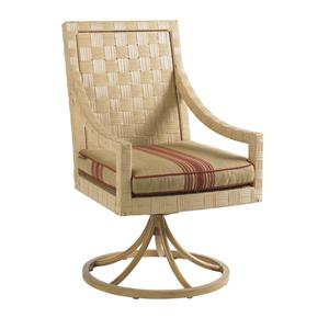 Tommy Bahama Outdoor Living Canberra Surf & Sand Swivel Rocker Dining Chair