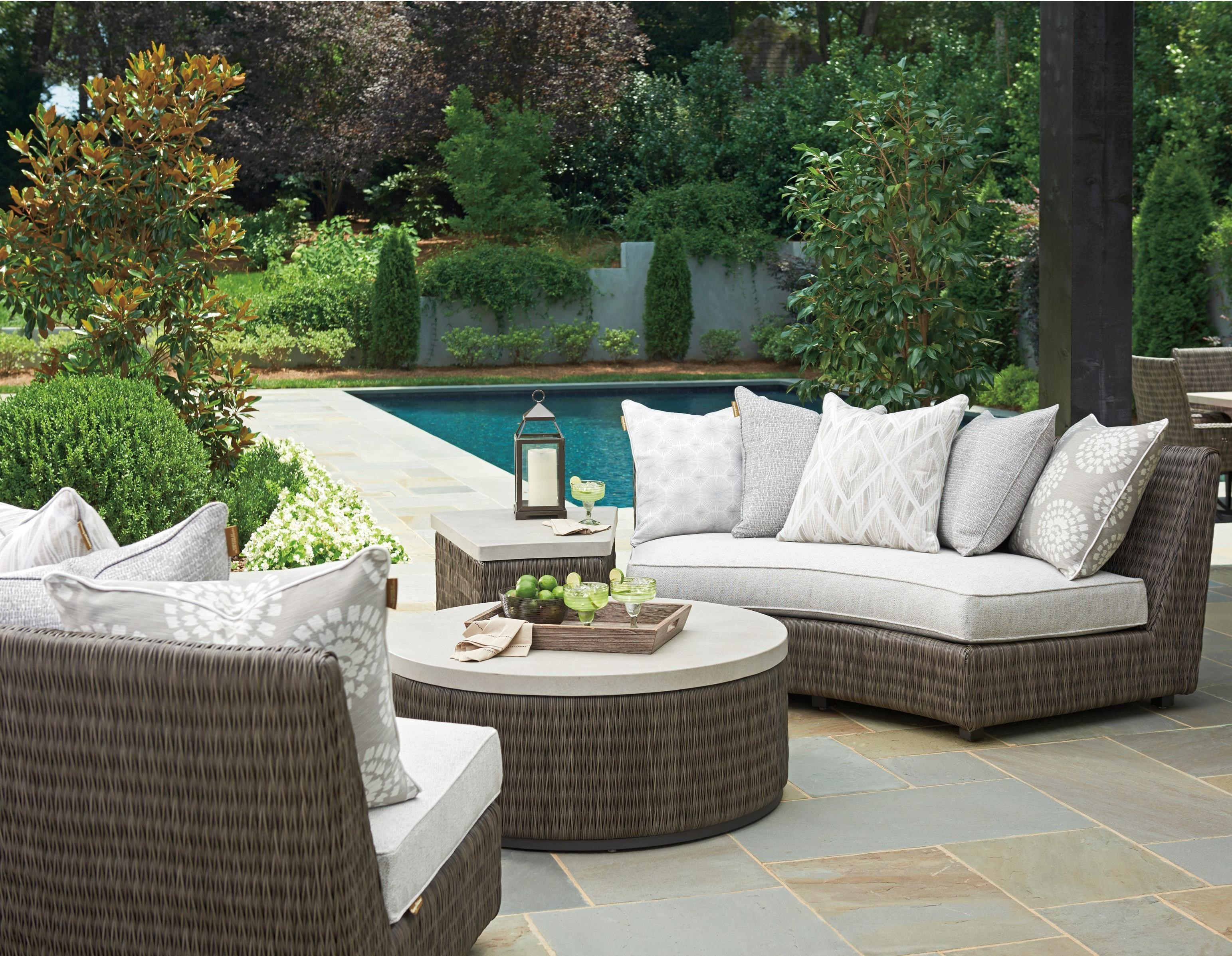 Cypress Point Ocean Terrace Outdoor Chat Set by Tommy Bahama Outdoor Living at Baer's Furniture