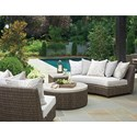 Tommy Bahama Outdoor Living Cypress Point Ocean Terrace Outdoor Chat Set - Item Number: 2X3900-82A+950+943