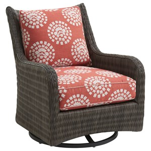 Tommy Bahama Outdoor Living Cypress Point Ocean Terrace Outdoor Occasional Swivel Glider