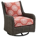 Tommy Bahama Outdoor Living Cypress Point Ocean Terrace Outdoor Occasional Swivel Glider - Item Number: 3900-10SG+CS3900-10SG-7067-51