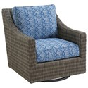 Tommy Bahama Outdoor Living Cypress Point Ocean Terrace Outdoor Swivel Glider Lounge Chair - Item Number: 3900-11SG+CS3900-11SG-7058-31