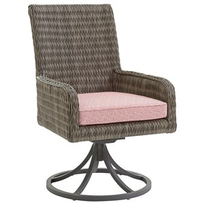 Tommy Bahama Outdoor Living Cypress Point Ocean Terrace Outdoor Swivel Rocker Dining Chair