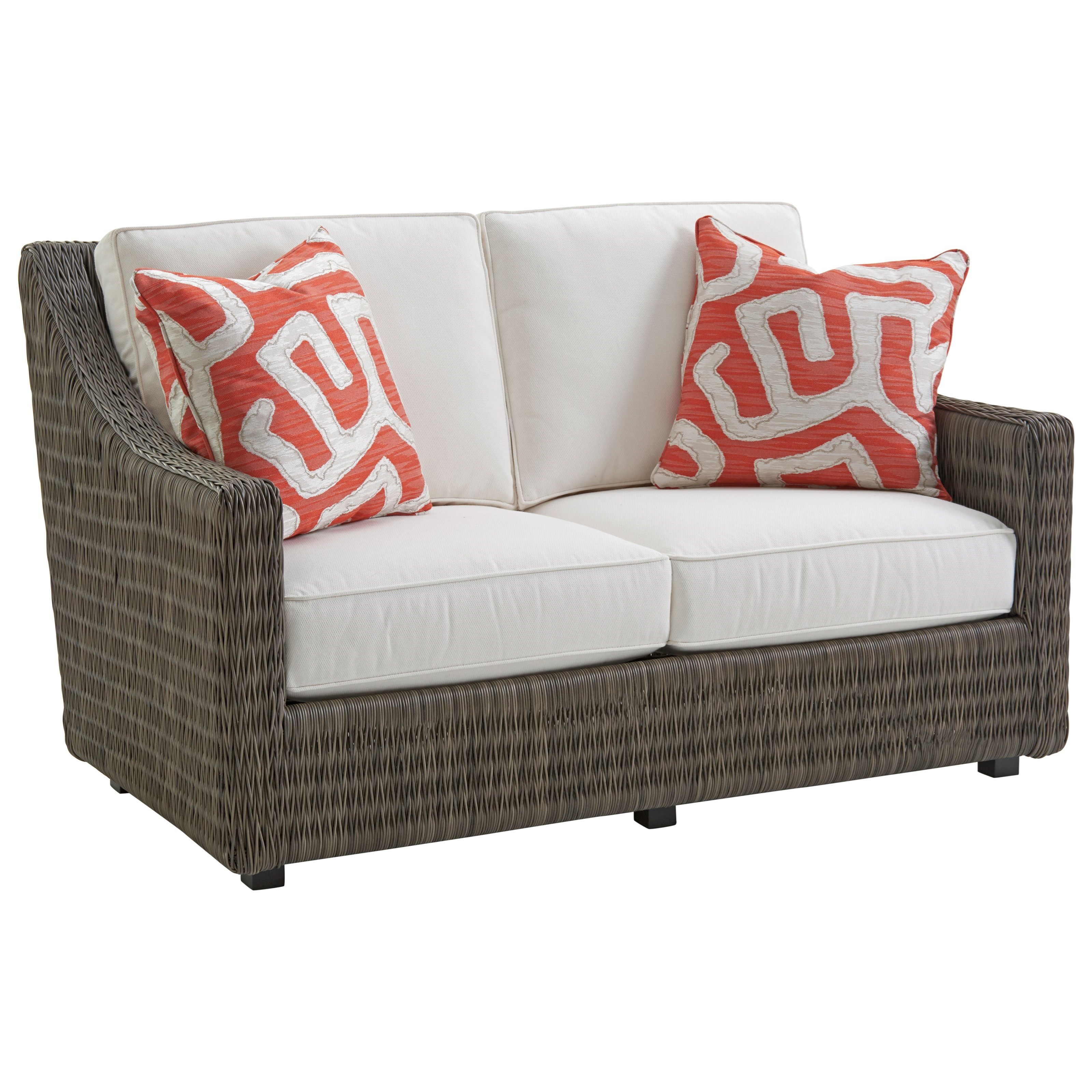 Cypress Point Ocean Terrace Outdoor Loveseat by Tommy Bahama Outdoor Living at Baer's Furniture