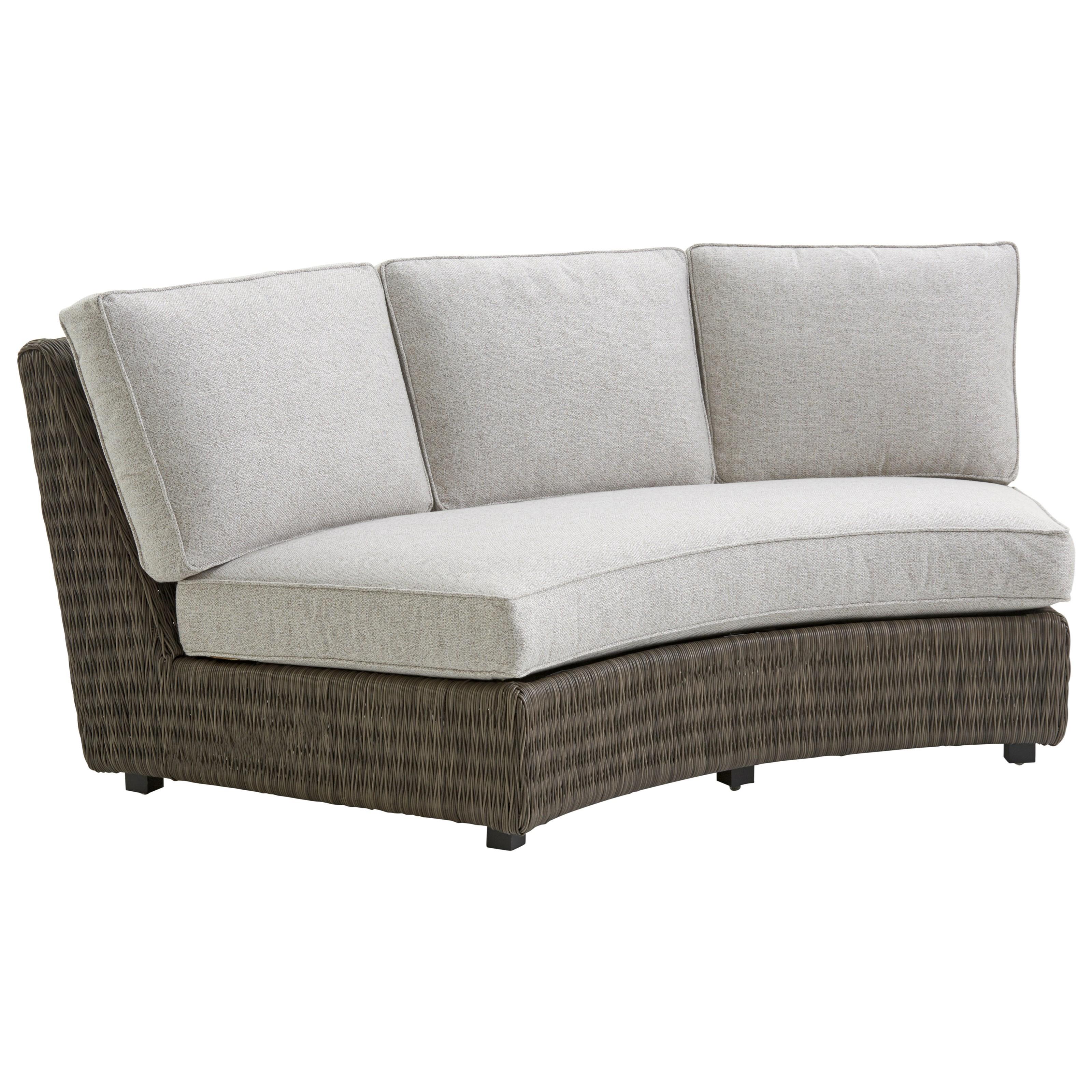 Outdoor Armless Sofa w/ Box Cushions