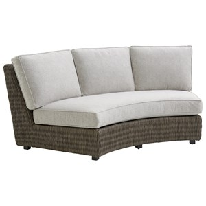 Tommy Bahama Outdoor Living Cypress Point Ocean Terrace Outdoor Armless Sofa w/ Box Cushions