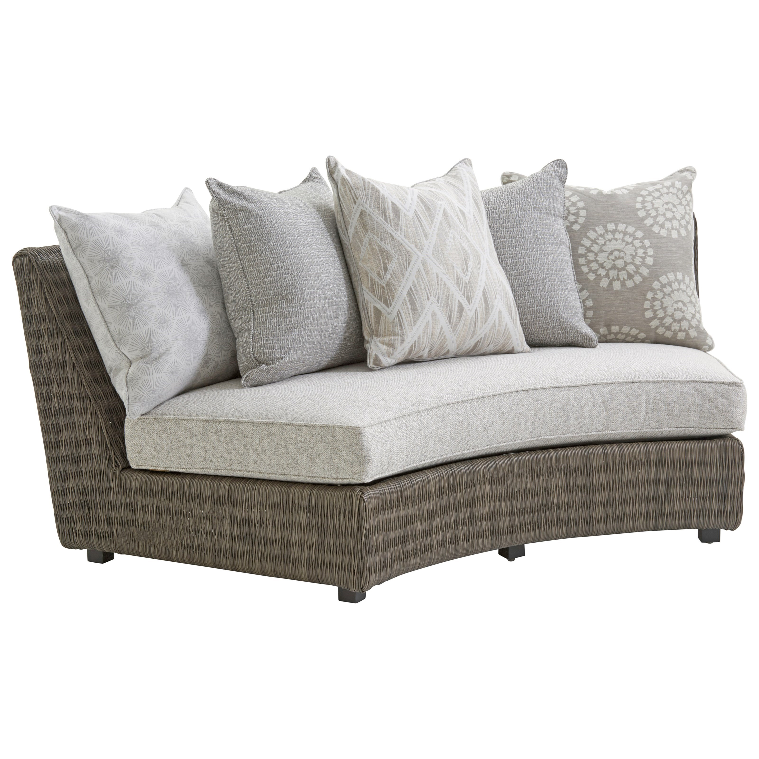 Outdoor Armless Sofa w/ Scatterback Cushions