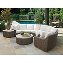 Tommy Bahama Outdoor Living Cypress Point Ocean Terrace Outdoor Sectional Sofa Chat Set - Item Number: 3900-82B+950+943