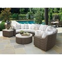 Tommy Bahama Outdoor Living Cypress Point Ocean Terrace Outdoor Sectional Sofa Chat Set - Item Number: 3900-82S+950+943