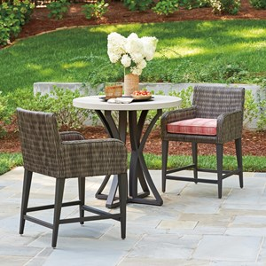 Tommy Bahama Outdoor Living Cypress Point Ocean Terrace 3 pc Outdoor Pub Dining Set