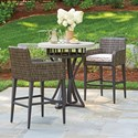 Tommy Bahama Outdoor Living Cypress Point Ocean Terrace 3 Pc Outdoor Pub Dining Set - Item Number: 3900-873+3900-16