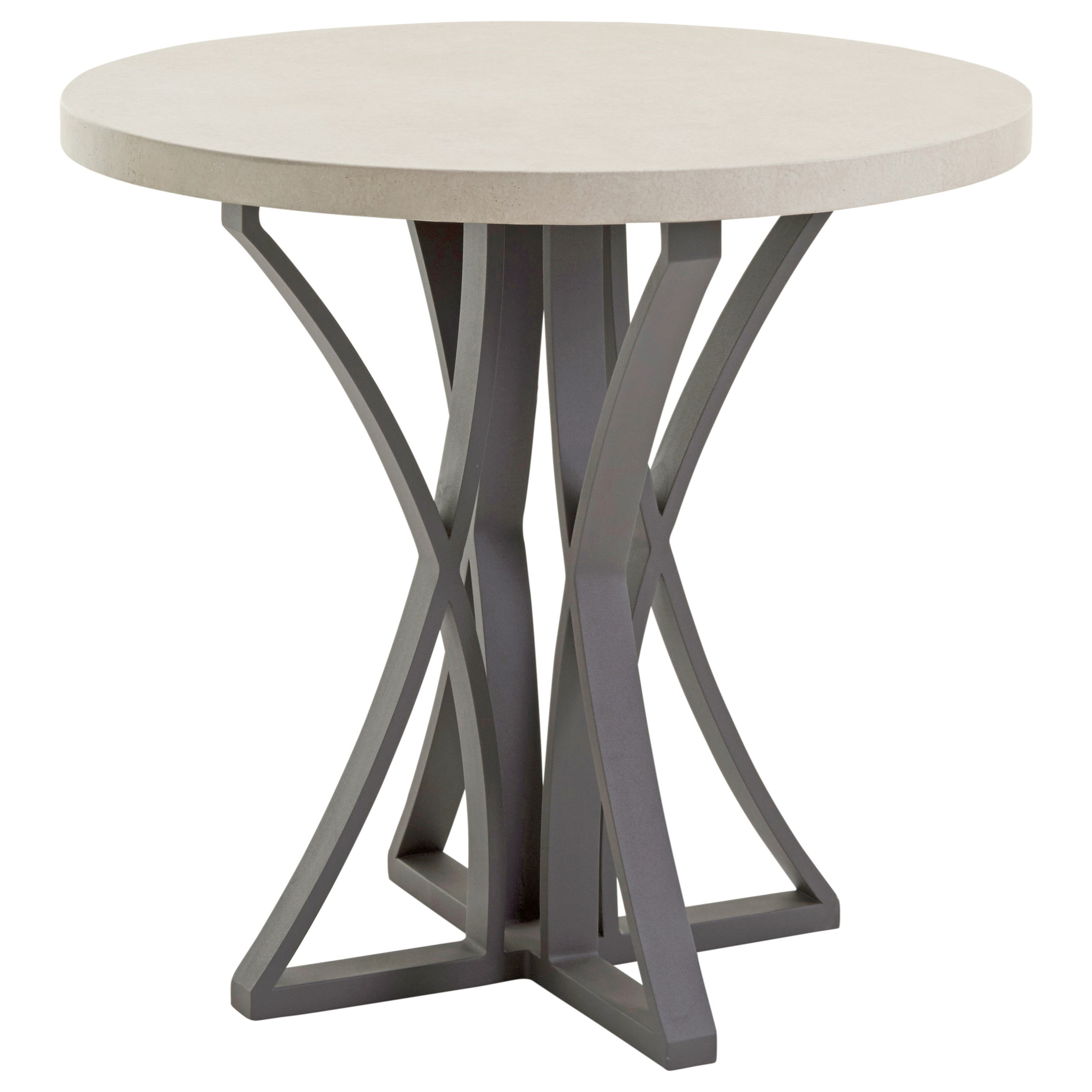 Outdoor Adj Bistro Table w/ Weatherstone Top