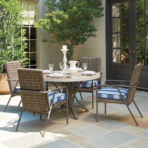 Tommy Bahama Outdoor Living Cypress Point Ocean Terrace 5 Pc Outdoor Dining Set