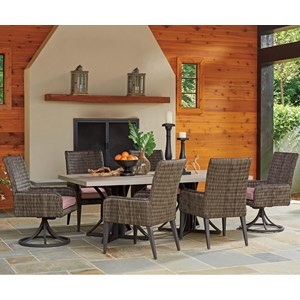 Tommy Bahama Outdoor Living Cypress Point Ocean Terrace 7 Pc Outdoor Dining Set