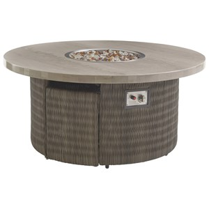 Tommy Bahama Outdoor Living Cypress Point Ocean Terrace Gas Fire Pit