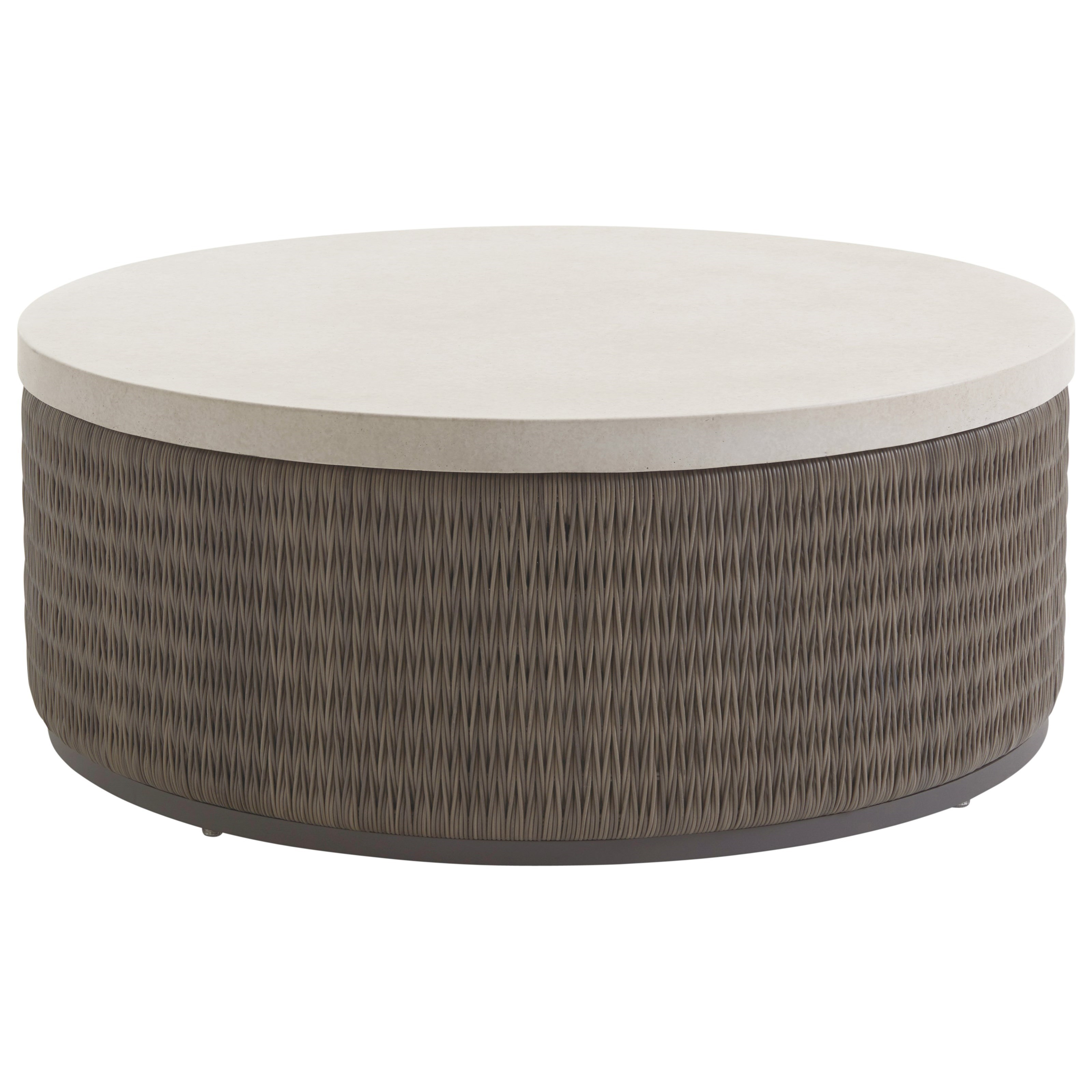 Cypress Point Ocean Terrace Round Cocktail Table w/ Weatherstone Top by Tommy Bahama Outdoor Living at Baer's Furniture