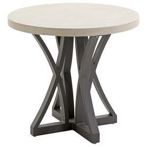 Tommy Bahama Outdoor Living Cypress Point Ocean Terrace Outdoor Side Table with Weatherstone Top