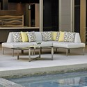 Tommy Bahama Outdoor Living Del Mar 3 Pc L Sectional - Item Number: 3800-51L+51A+57R+CS-7018-71