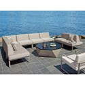 Tommy Bahama Outdoor Living Del Mar 8 Pc Sectional - Item Number: 3800-51L+5X51A+51CR+51R+CS-7029-71