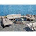 Tommy Bahama Outdoor Living Del Mar 7 Pc Sectional - Item Number: 3800-51L+5X51A+51R+CS-7029-71