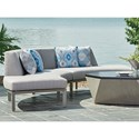 Tommy Bahama Outdoor Living Del Mar 2 Pc Curved Sectional - Item Number: 3800-52l+3800-52R-7015-71