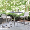 Tommy Bahama Outdoor Living Del Mar Outdoor Bistro Set - Counter Height - Item Number: 3800-873+2X3800-17