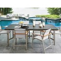 Tommy Bahama Outdoor Living Del Mar 7 Pc Outdoor Dining Set - Item Number: 3800-877+6X3800-13