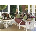 Tommy Bahama Outdoor Living Island Estate Hamptons Outdoor Side Table with Octagonal Top - Shown with Scatterback Sofa and Cocktail Table