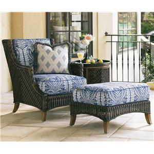 Outdoor Lounge Chair & Ottoman