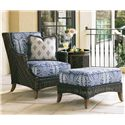 Tommy Bahama Outdoor Living Island Estate Lanai Outdoor Lounge Chair & Ottoman - Item Number: 3170-11+CS3170-11+3170-44+CS3170-44