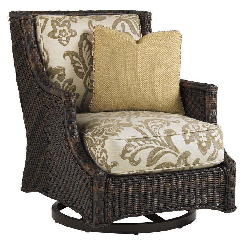 Tommy Bahama Outdoor Living Island Estate Lanai Outdoor Swivel Lounge Chair - Item Number: 3170-11SW+CS3170-11SW