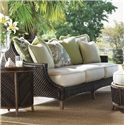 Tommy Bahama Outdoor Living Island Estate Lanai 5 Piece Converation Set with Scatterback Sofa and Wing Back Chairs - Scatterback Sofa