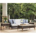 Tommy Bahama Outdoor Living Island Estate Lanai 4 Piece Patio Set - Item Number: 3170-33+2x953+945WT+TB+CS3170-33B